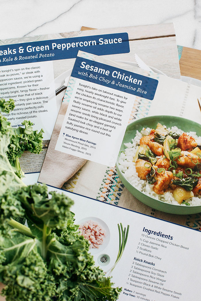 EASY Sesame Chicken with Blue Apron