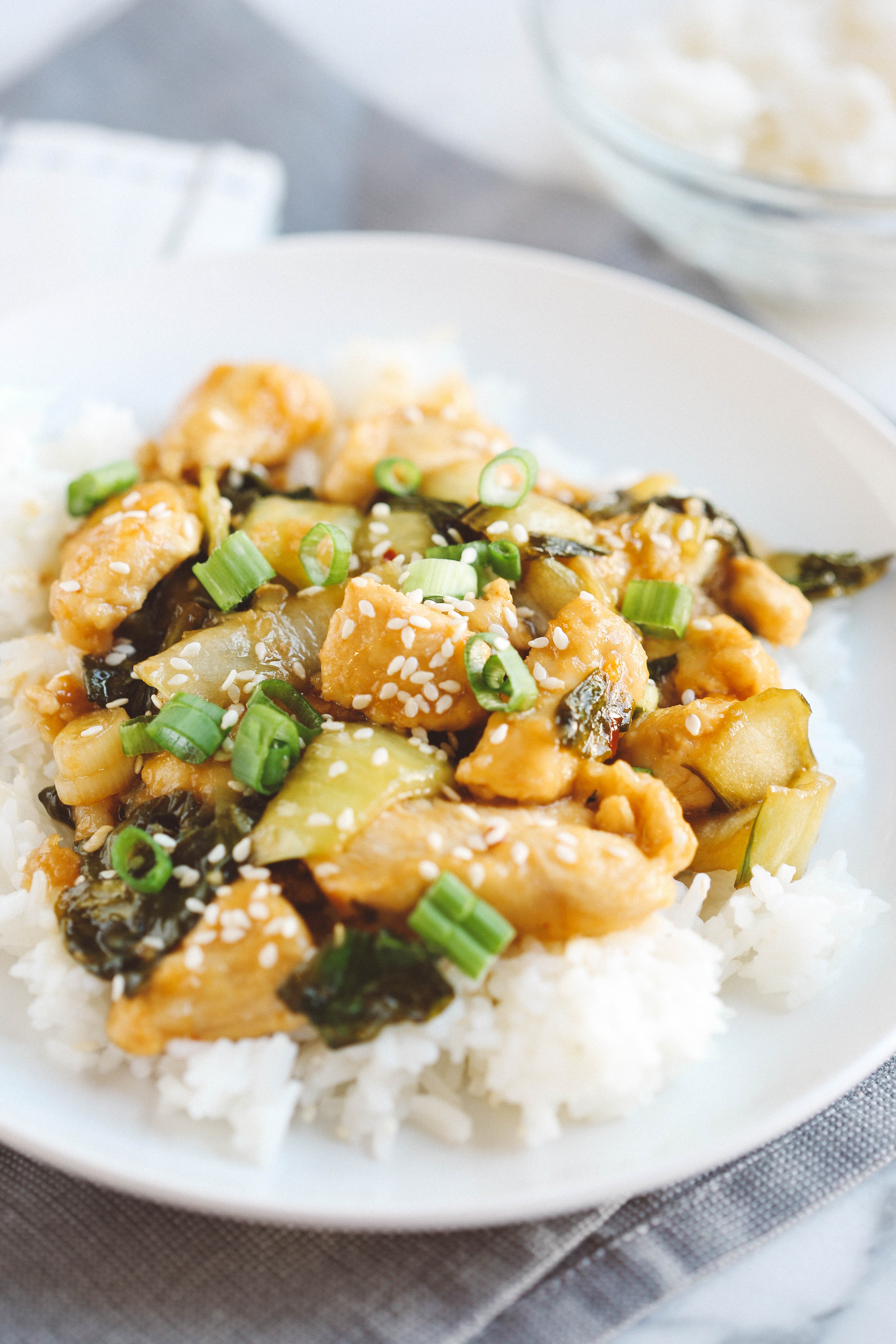 Skip the take-out and make this EASY Sesame Chicken! The perfect weeknight comfort meal made with all fresh ingredients in under 30 minutes!