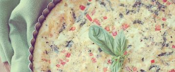 Basil and Red Pepper Frittata