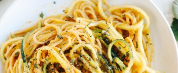 Butternut Squash & Sage Spaghetti with Zucchini Noodles
