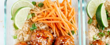 Honey Sriracha Glazed Meatballs