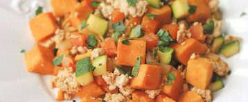 {Healthy} Turkey and Sweet Potato Hash