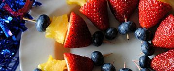 Red, White and Blue Fruit Skewers